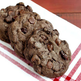 Cherry Double Chocolate Chip Cookies