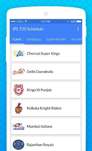 IPL 2018 Schedule - Dream 11 Team & Fantasy News 1.0.1 screenshots 2