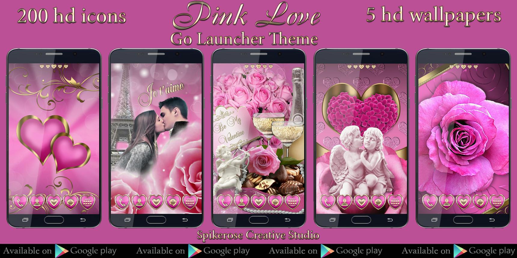 Google themes hearts - Pink Hearts Go Locker Theme Screenshot