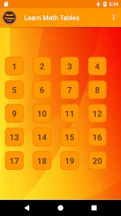 Learn Math Tables Offline - náhled