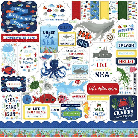 Echo Park Cardstock Stickers 12X12 - Under Sea Adventures