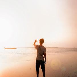 Covering the sunlight by Thoriq Naufal - Digital Art Places ( color, moody, beach, folk, digital art,  )