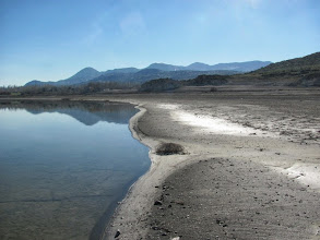 Photo: the lake is unfortunately drying
