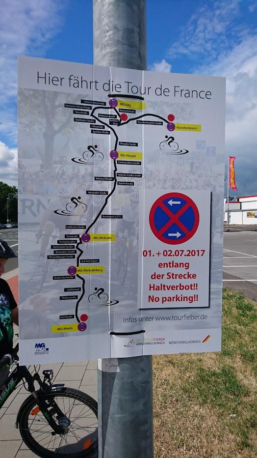 Tour de France Mönchengladbach Plakat Anwohner