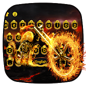 Fire Bike Keyboard Theme
