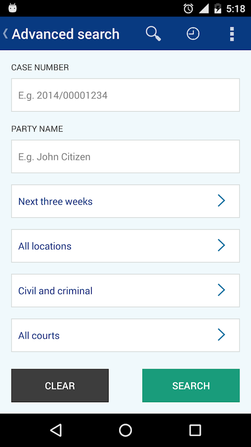 Search NSW Court Lists- screenshot