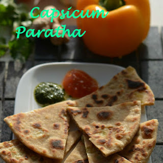 Paneer Capsicum Paratha | Stuffed Indian Flat Bread