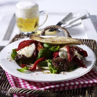 Steak and Roasted Pepper Pita.