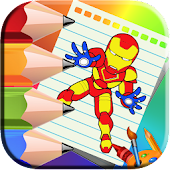Heroes Coloring book for kids