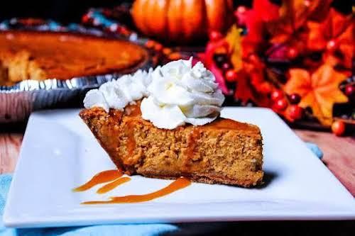 "Pumpkin Pie Cheesecake ""This pumpkin pie cheesecake will be a scrumptious addition..."