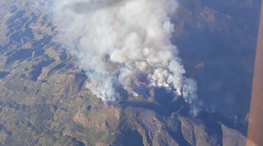 El incendio de Sierra Cabrera deja más de 180 hectáreas de monte calcinadas