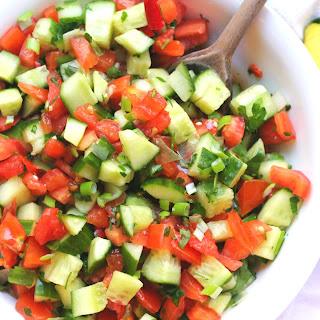 Mediterranean Cucumber Tomato Salad Recipe