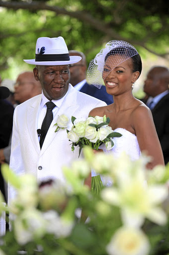 Bheki Cele and wife Thembeka Ngcobo at their wedding in 2010.