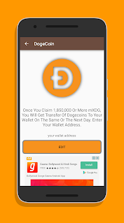Claim DogeCoin app (apk) free download for Android/PC/Windows screenshot