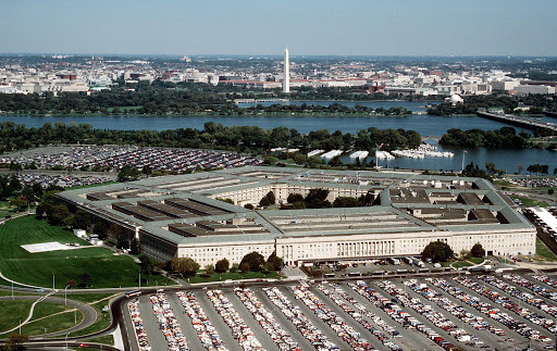 An aerial view of the Pentagon, headquarters of the Department of Defense, in Washington, DC in an undated photo