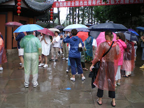 Photo: Buying tickets for the Dazu Grottoes