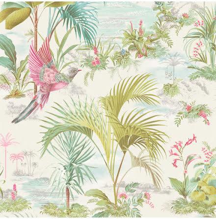 Pip 2020 Palm Scene Tapet med palmer - Vit