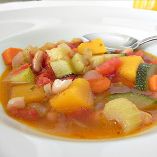 Bean Soup with Pumpkin and Zucchini