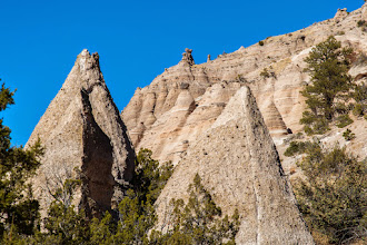 Photo: Front cliffs preview fantastic hoodoos within canyon; Tent Rocks National Monument, Cochiti Pueblo, , New Mexico