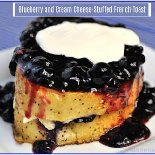 Blueberry and Cream Cheese-Stuffed French Toast.