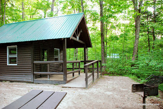 Photo: Knox Mountain cabin at Ricker Pond State Park