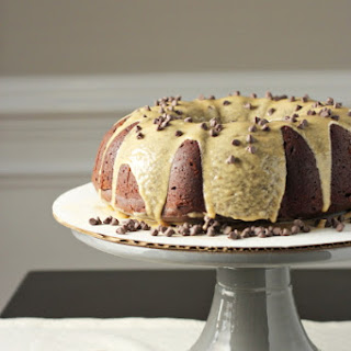 Double Chocolate Bundt Cake with Biscoff Glaze