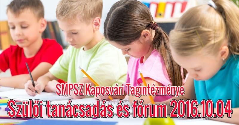 Szülői tanácsadás és fórum Kaposváron 2016.10.04