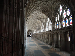 Photo: The cloister of Gloucester Cathedral