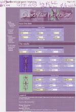 """Photo: Feuille de calcul de John Coppens ON6JC . Cette QFH sur les bases de """"Wolfang DK6WX"""" vu sur le site : http://www.radiosonde.eu . Petite différence de dimensions avec la sienne malgrès la même feuille de calcul et le même rapport """"diam./H"""" de 0.43 ... ??? ATTENTION quand vous regardez votre QFH de par dessus (vue d'avion)les tubes ou plats d'alu verticaux 1/2 tours doivent tourner en sens inverse des aiguilles d'une montre"""
