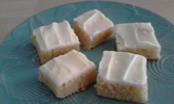 Frosted Almond Squares Recipe