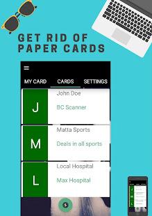 screenshot image - Business Card Scanner App