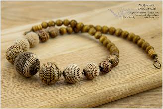 Photo: Nacklace with Crocheted Beads - Намисто з обв'язаними намистинами