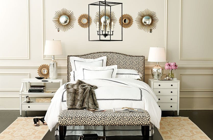 At the Both Side of the Bed for bedroom rug placement