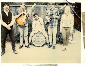 Photo: Javier, Lindsey, Bob & Cal Roper. Fritz auditioning  Mary Johnston as vocalist (1967) @ Lindsey's house, Atherton.
