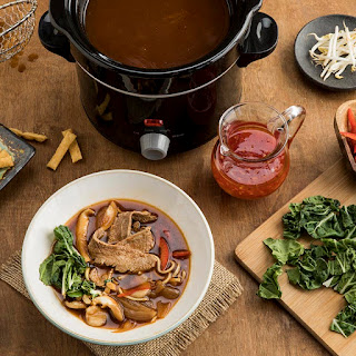 Asian Hot Pot Broth with Tangy Chili Sauce.