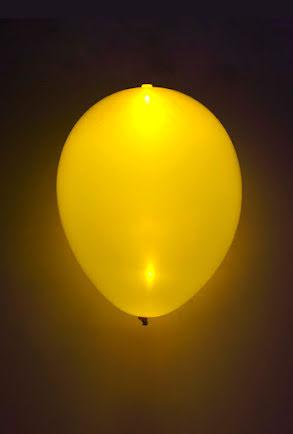 LED-ballong, gul
