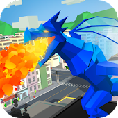Pixel Dragon Rampage Simulator