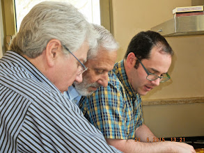 Photo: The guys hard at work!!!   Solly, Effie & Daniel