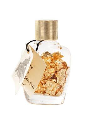 Guldflingor i liten flaska