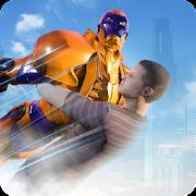 Superhero Captain Robot : Rescue War Mission
