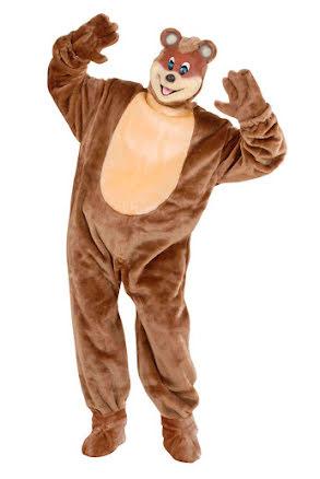 Djurdräkt teddybjörn deluxe, vuxen