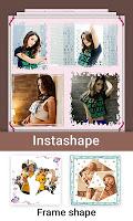screenshot of Inshape Square Photo Grid Blur  Pic -Photo Frame