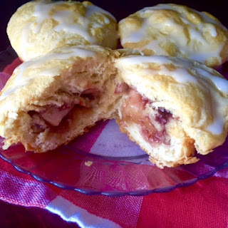 Apple & Raspberry Stuffed Biscuits.
