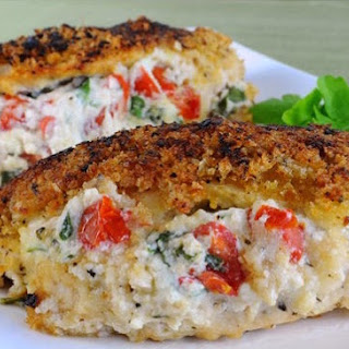Panko Crusted Stuffed Chicken.