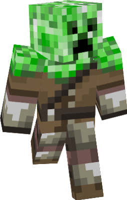 Creeper wearing creeper hunter outfit