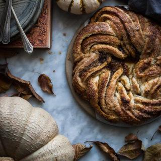 Pumpkin Caramel Puff Pastry Twist Recipe