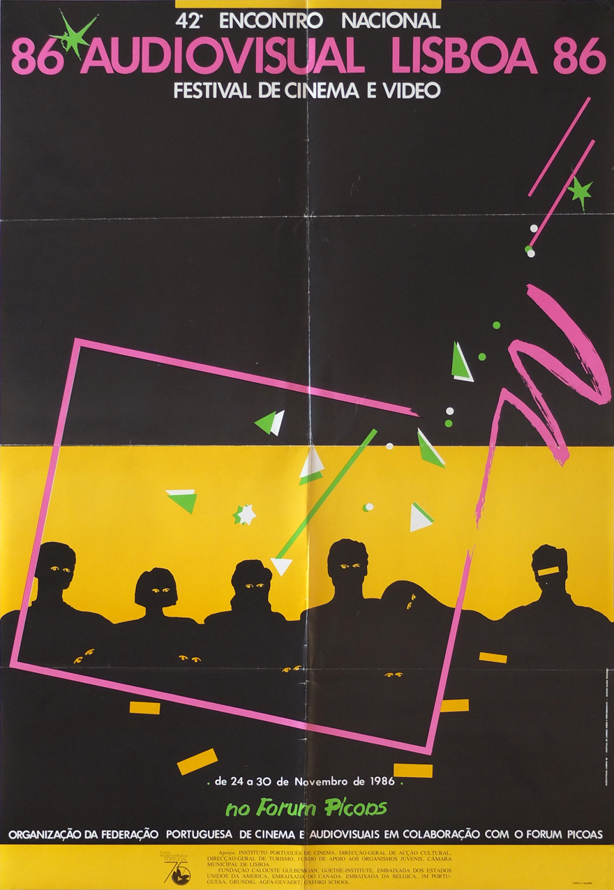 Photo: AudioVisual Lisboa 86 24.-30.11.1986 69 x 47,5 cm