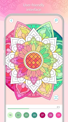 التلوين بالأرقام u2013 Mandala Book Screenshot 4