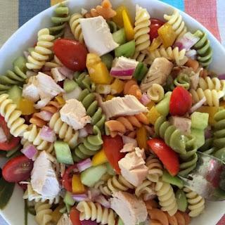 Easy Chicken Pasta Salad.