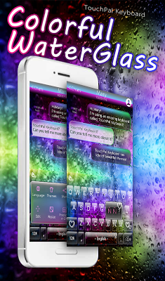 Colorful Glass Water Keyboard - screenshot